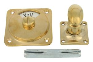 Vrij bezet turn and release spindle polished brass