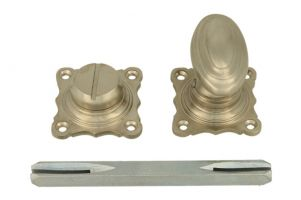 Turn and release spindle satin nickel