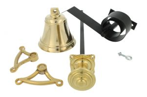 Bell pull set polished brass