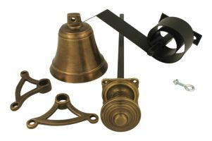 Bell pull set antique brass