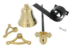 Bell pull set polished brass (1900)
