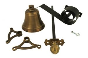Bell pull set antique brass (1900)