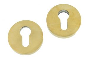 Safety-escutcheon polished brass