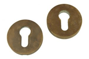 Safety-escutcheon antique brass