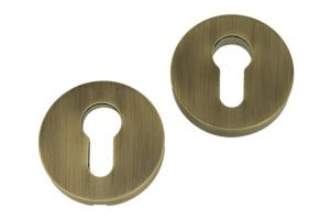 Safety-escutcheon antique brass lacquered
