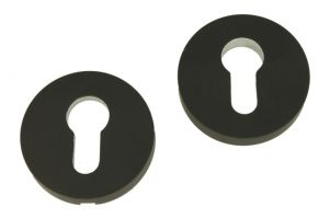Safety-escutcheon black powder coated