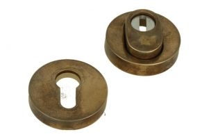 SKG*** cylinder protection safety-escutcheon antique brass
