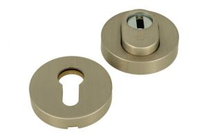SKG*** cylinder protection safety-escutcheon satin nickel