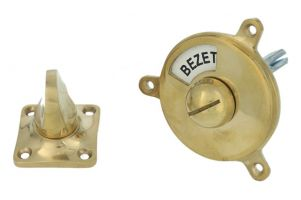 Vrij bezet turn and release spindle round polished brass