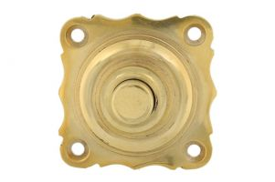 Bell push polished brass 40x40mm