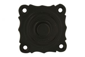 Bell push brass black powder coated 40x40mm