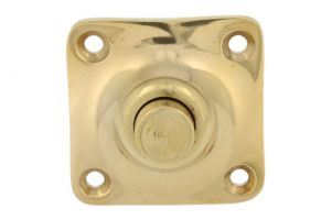 Bell push polished brass 39x39mm