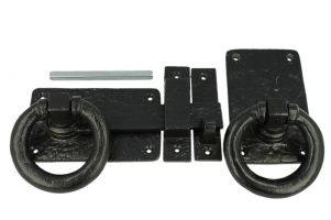 Gate lock cast iron black with ring heavy model