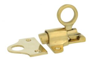 Transom window latch polished brass with catch