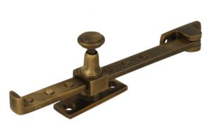 Window stay antique brass 190mm