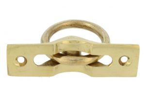 Flush pull ring polished brass