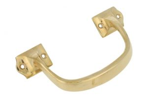 Pull handle 140mm polished brass