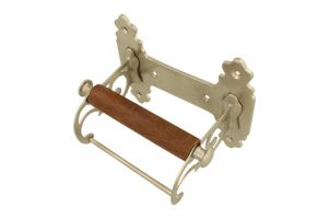 Elegant toilet paper holder satin nickel