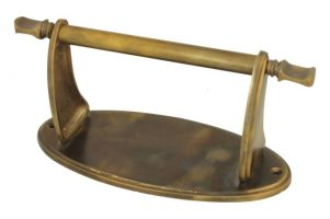 Toilet paper holder antique brass