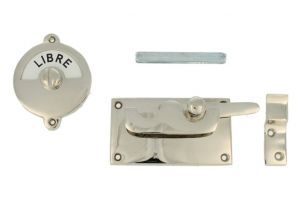 Libre-Occupé door lock for toilet 92×52mm nickel