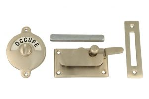 Libre-Occupé door lock for toilet70×39mm satin nickel