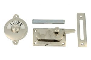 Libre-Occupé door lock for toilet nickel 70x39mm