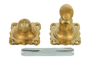 Turn and release spindle polished brass, 8mm spindle size