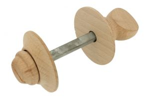 Wooden turn and release spindle beech. Spindle size 8mm