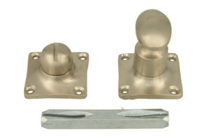Turn and release spindle satin nickel. Spindle size 8mm