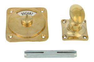 Vacant-Engaged turn and release spindle polished brass