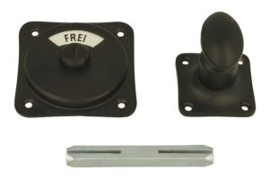 Frei-Besetzt turn and release spindle black powder coated