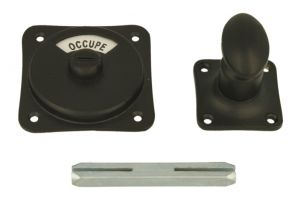 Libre-Occupé turn and release spindle black powder coated
