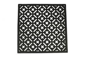 Cast iron air vent cover 240x240mm