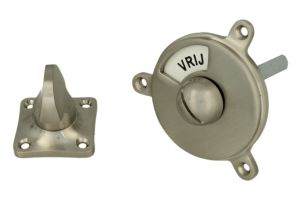 Vrij bezet turn and release spindle round satin nickel